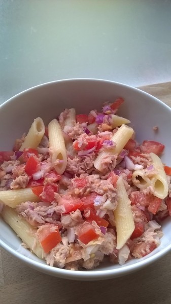 pasta en tonijn