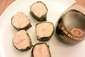 Lekker met soyasaus en wasabi