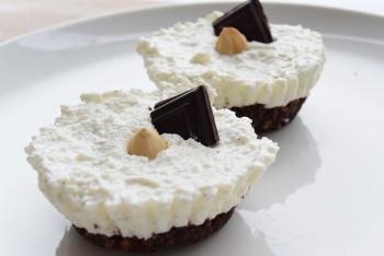 Vanillekwark en chocolade