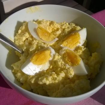 Eiersalade met of zonder ham