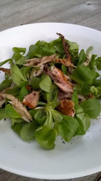 Supersimpele salade met makreel