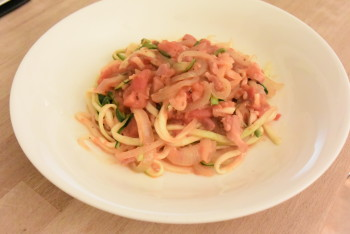 Courgetti Amatriciana