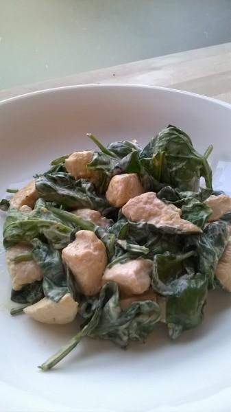 Citroenkip met spinazie