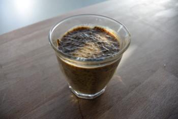 Cappuccino pudding van chia zaad