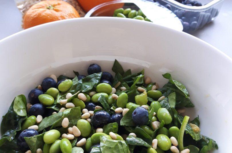 Groene goede voornemens spinazie salade